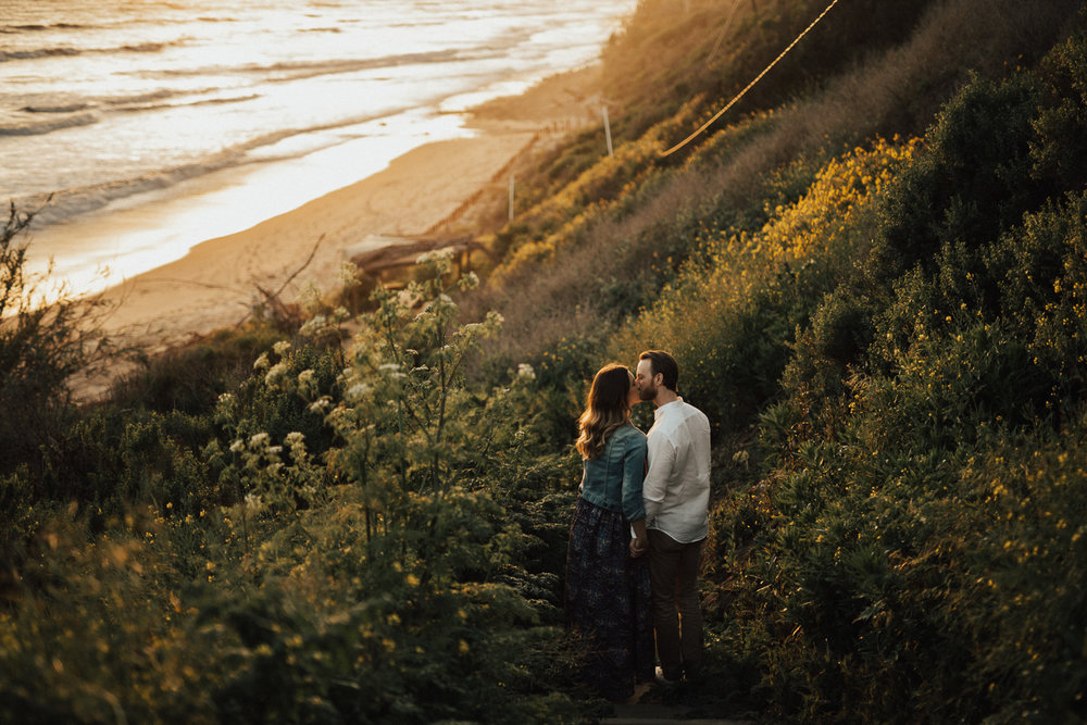 natural cliffside engagement