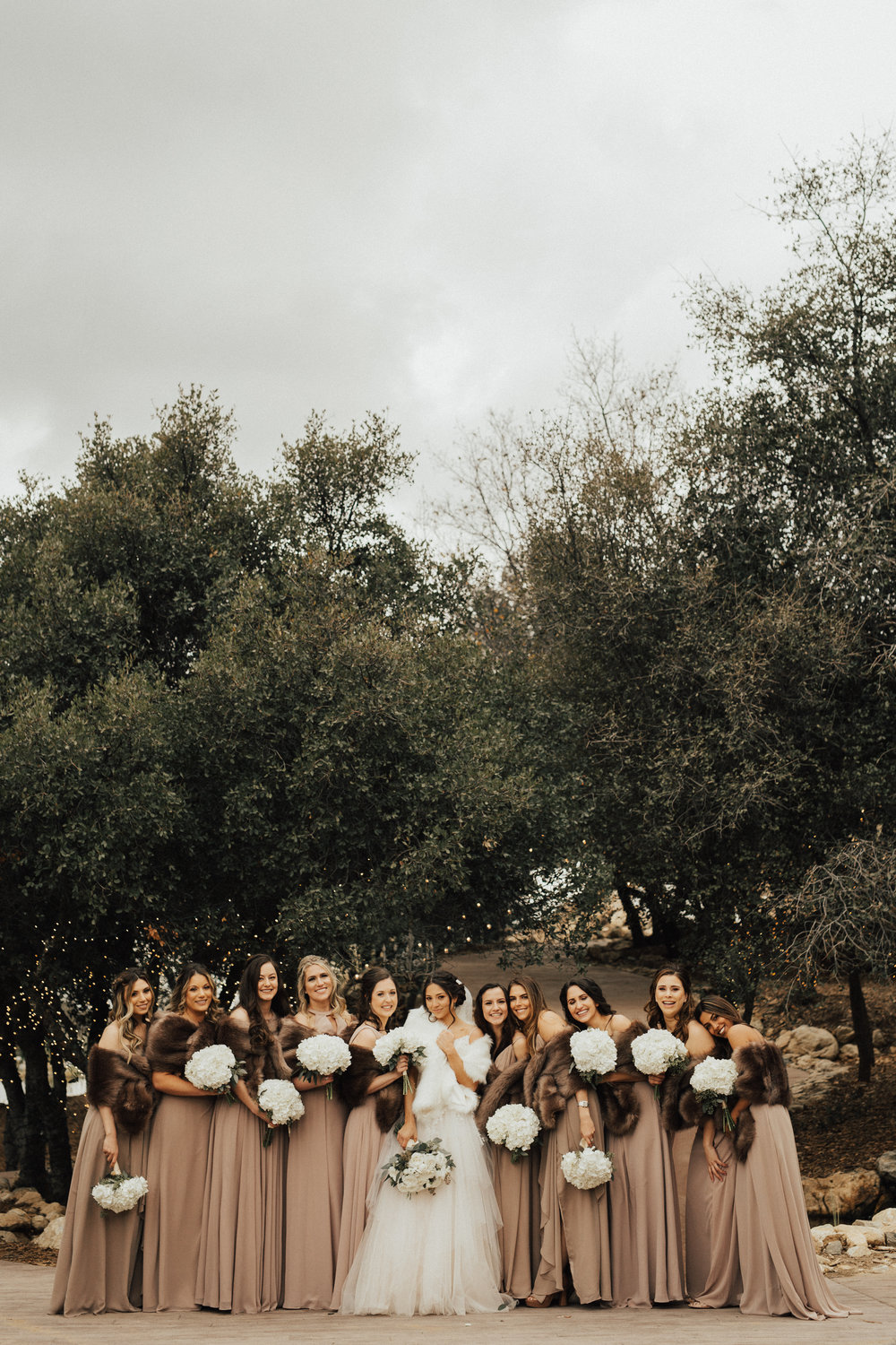 cozy bridesmaid photo