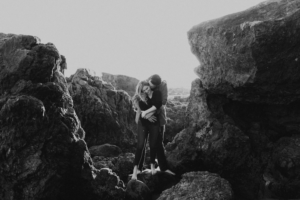 Rocky beach engagement