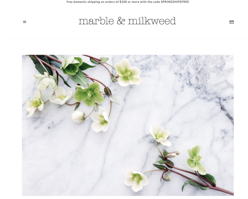 MARBLE AND MILKWEED >