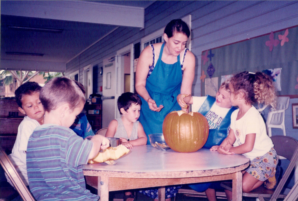 Teaching at Hawaii Montessori School in 1998