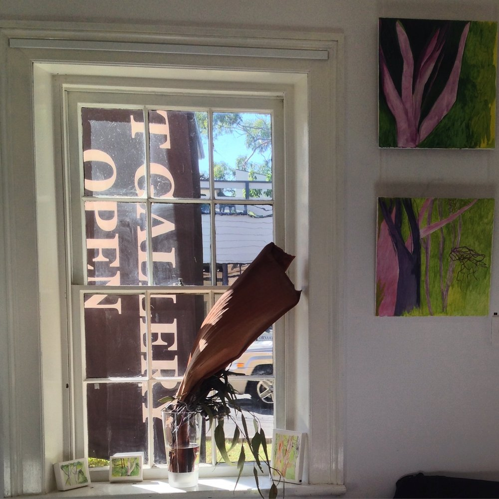 Hunters Hill Art Gallery showing small works on stretched paper - to see more works from this exhibition click  here