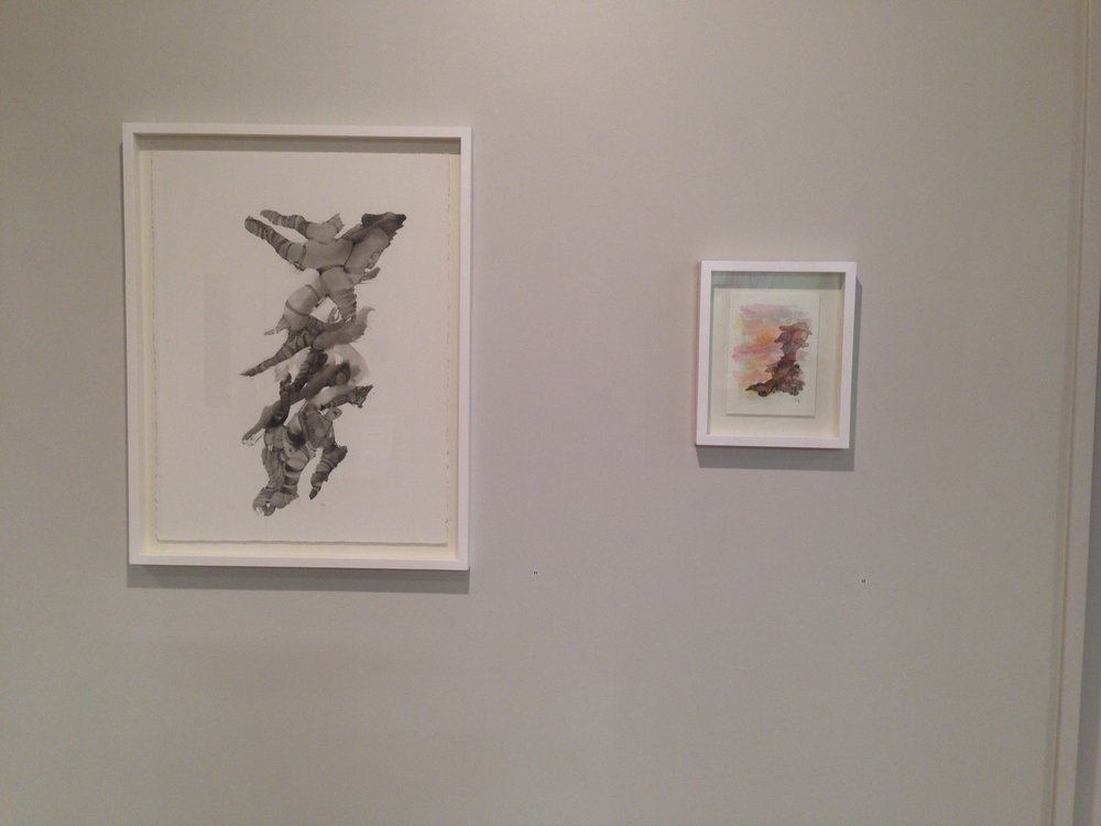 Two watercolour sketches from the exhibition - to see more from this exhibition click  here