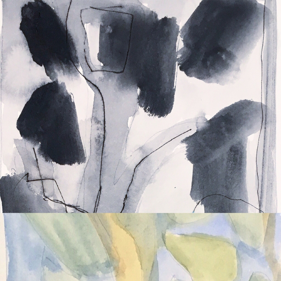Sketch 107 pen ink wash watercolour pencil on paper