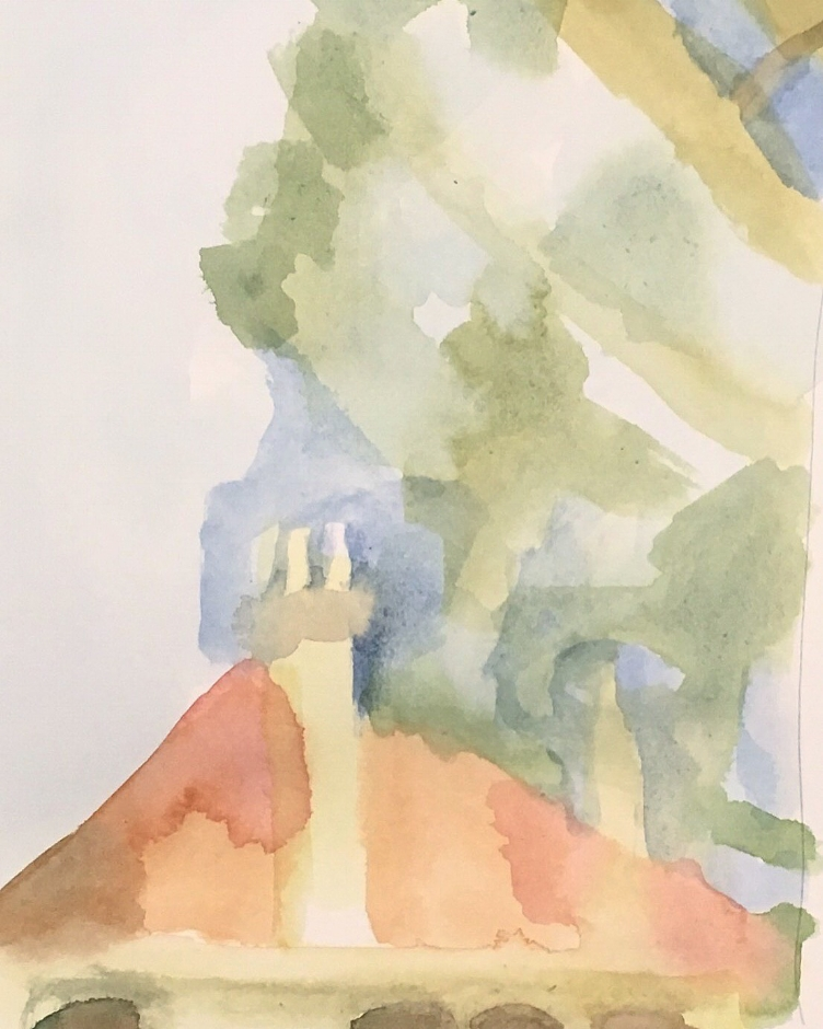 Sketch 88 watercolour on cartridge paper - a place in Annandale Sydney