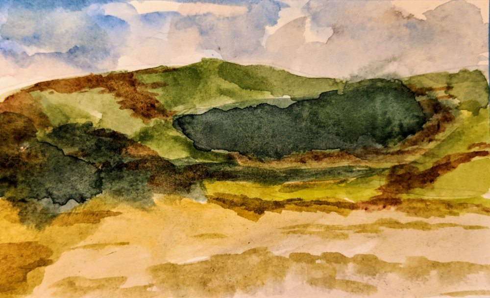 Beach Watercolour iii