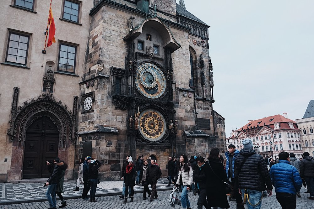 The astronomical clock tower. You can go up to see a 360 view of Old Town but there's a long line so we didn't bother going up.
