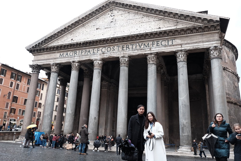The Pantheon - cue in The Da Vinci Code, Angels & Demons & Illuminati theories.