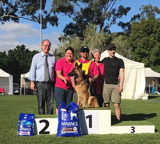 2017 National win with judge Herr Goldlust and team Everest