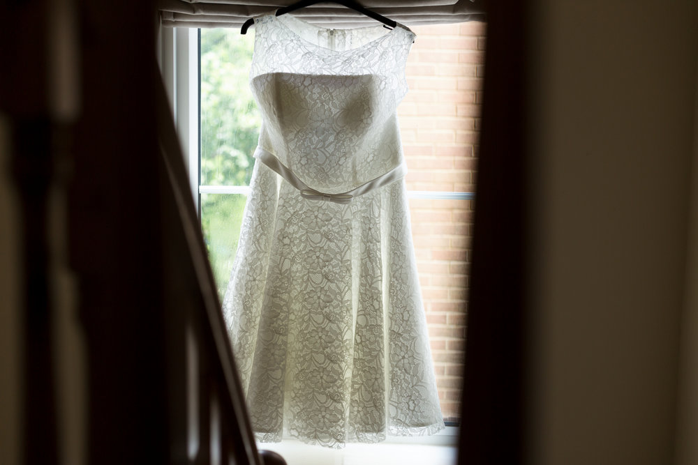 50's style wedding dress, wedding photographer south wales