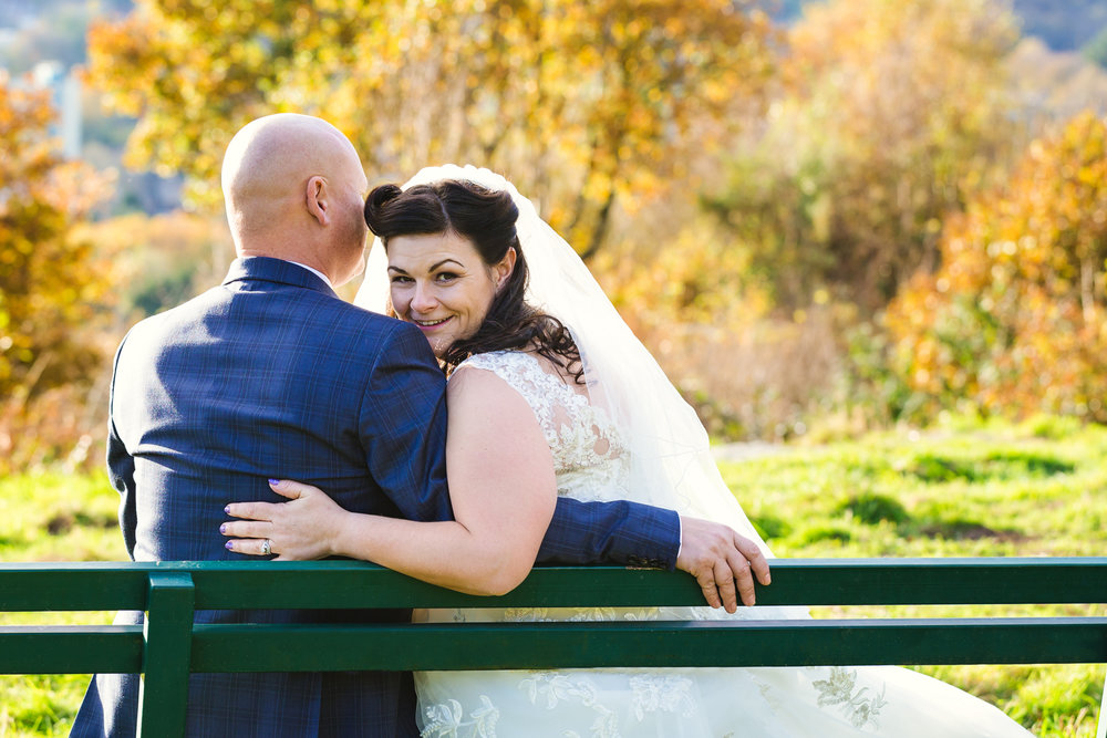 50's style autumn wedding south wales. Wedding photographer