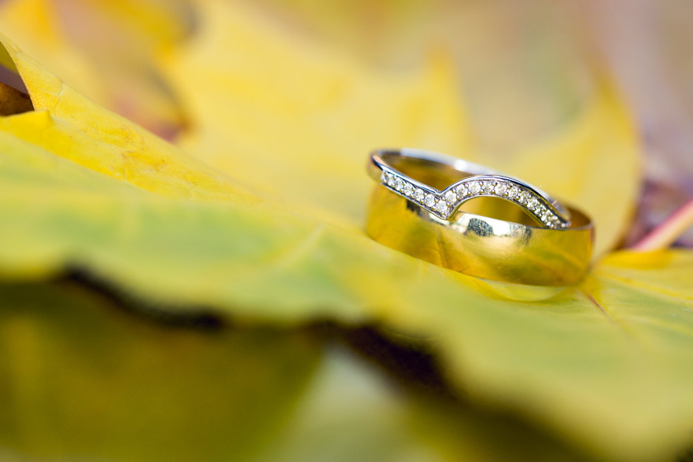 Autumn wedding photos, south wales wedding photographer, wedding rings