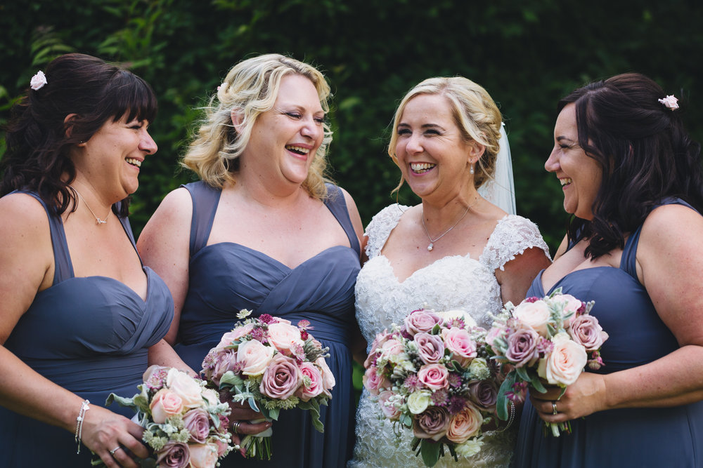 Bridesmaids, all the girls wedding photos Cardiff south wales