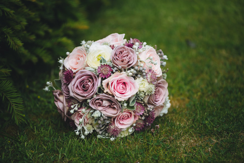 South Wales wedding photographer. Bridal bouquet