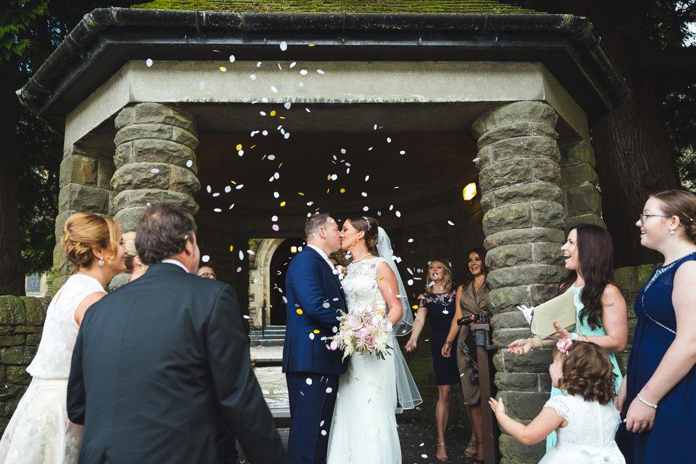 St Martins Church Caerphilly wedding photos