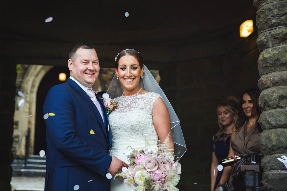 St Martins church Caerphilly wedding photographer