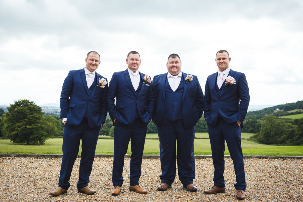 Groom and groomsmen photos New House Country Hotel Thornhill