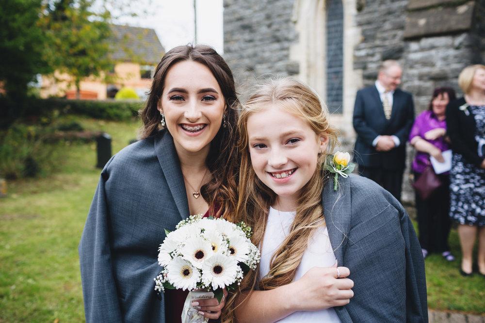 Bridesmaid at Vale of Glamorgan Hotel wedding photos