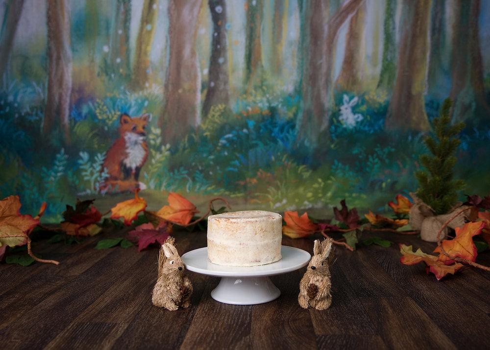 woodland themed Cake Smash Cardiff