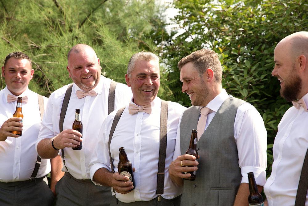 Groom prep wedding photos