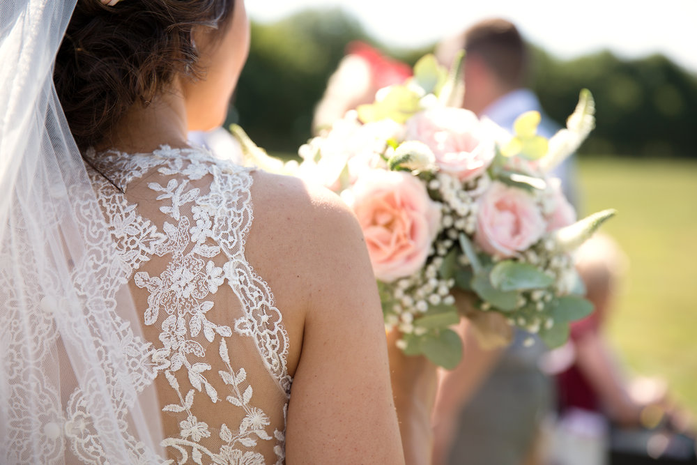Lace wedding dress, wedding flowers, wedding details, wedding photography