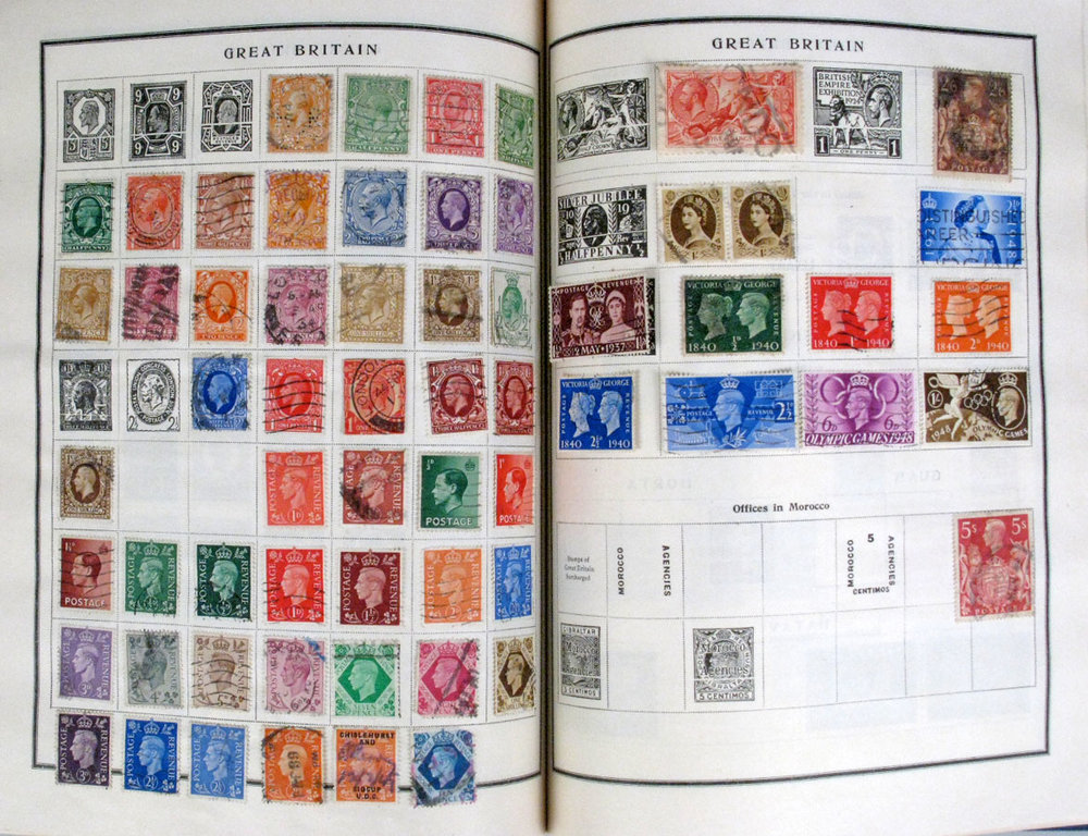 This is an album of stamps by a collector. It's not mine, because I am not worthy.