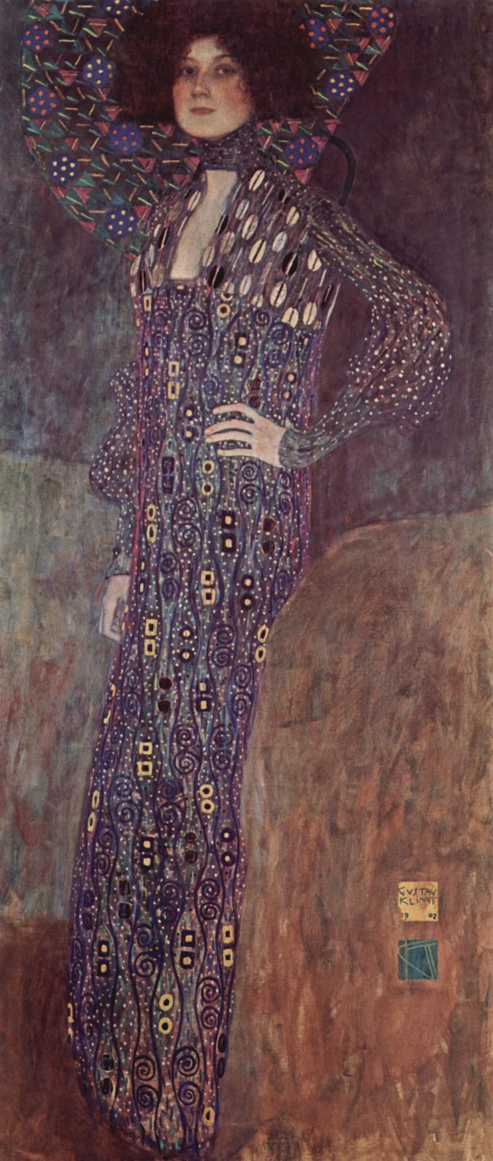 Gustav Klimt,  Portrait of Emilie Flöge  1904