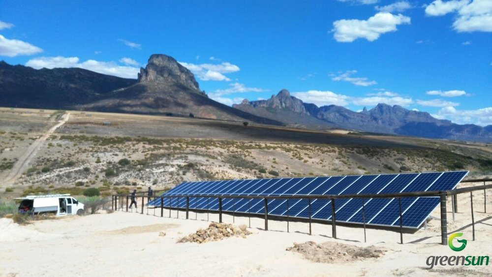 PIKETBERG - 15kW Of Solar PV Powering An 8kW Solar Pump.This Project Was Installed in Partnership With Vanco Agri Trading