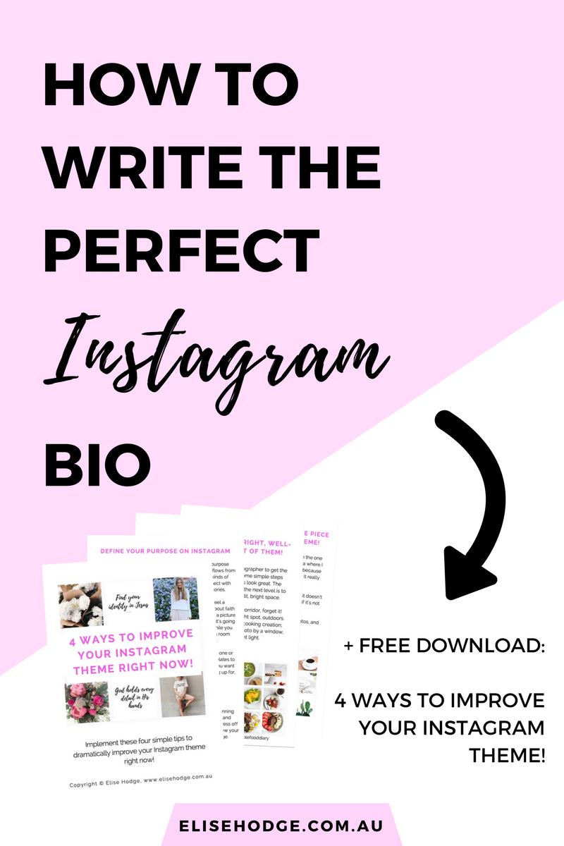How To Write The Perfect Instagram Bio Elise Hodge
