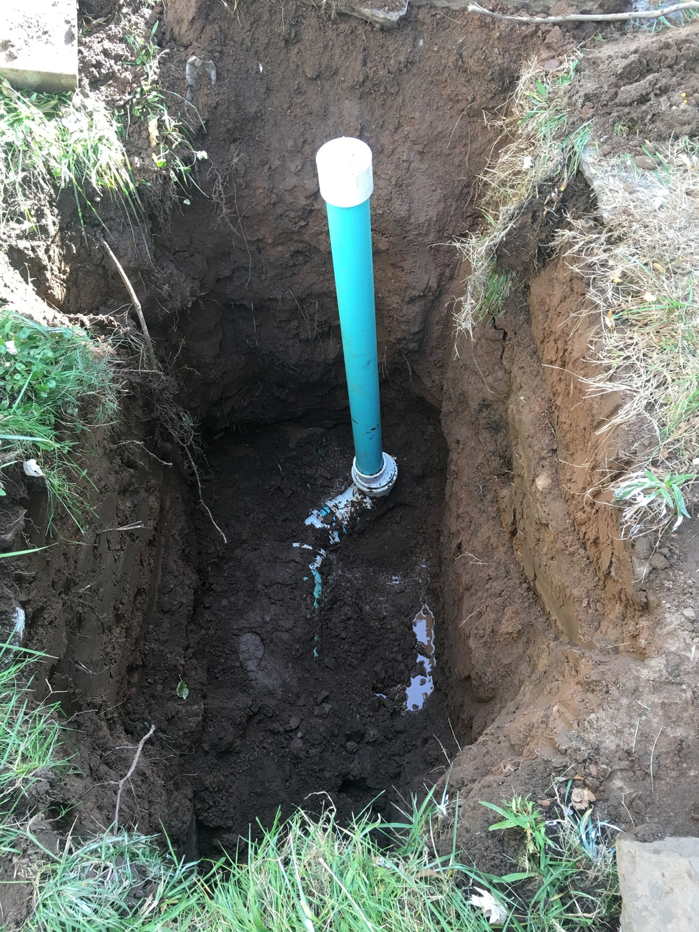 Sewer Line Replacement with Outside Clean Out