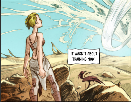 Ribbon Sea  - Written by Austin Wilson; Illustrated and colored by Lowell Isaac; Lettered by DC Hopkins.