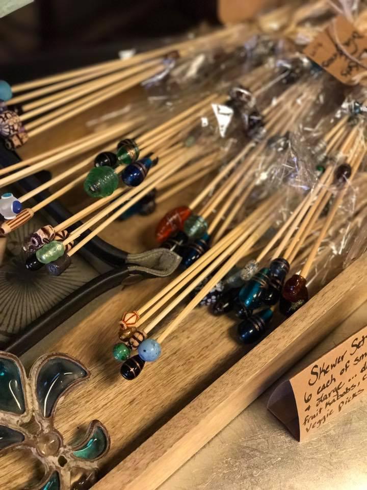 Handmade glass skewers/stirrers
