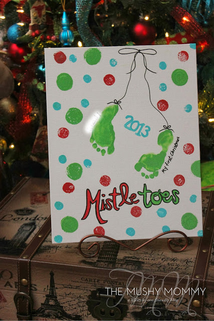 Baby S First Christmas Craft The Mushy Mommy