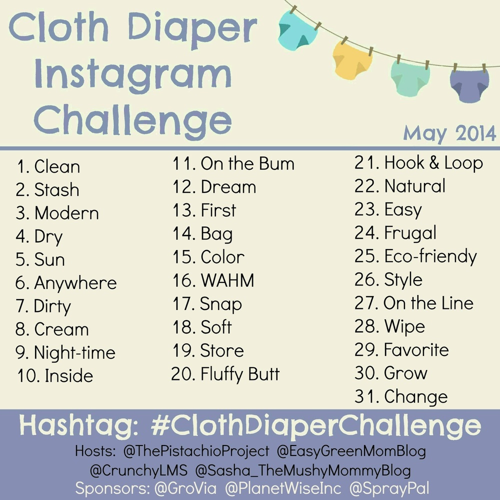 Cloth Diaper Instagram Challenge