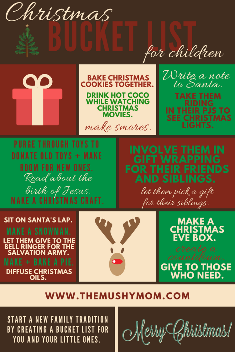 Christmas Bucket List for Children — The Mushy Mommy