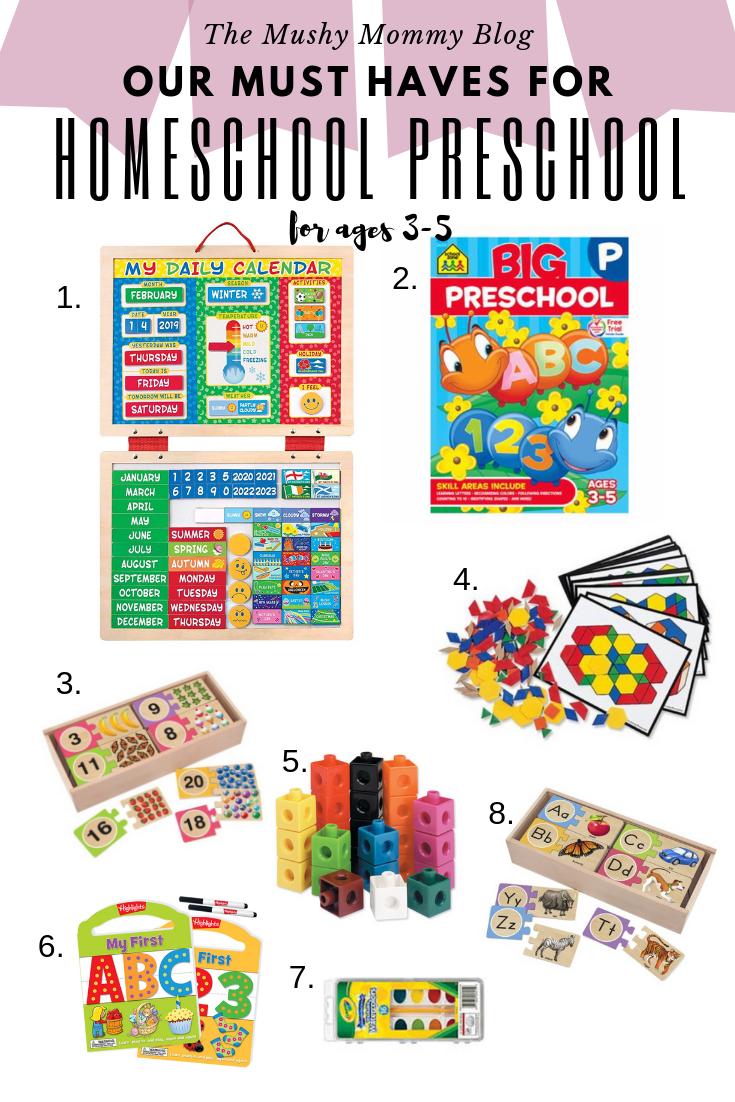 Homeschool Preschool Must Haves