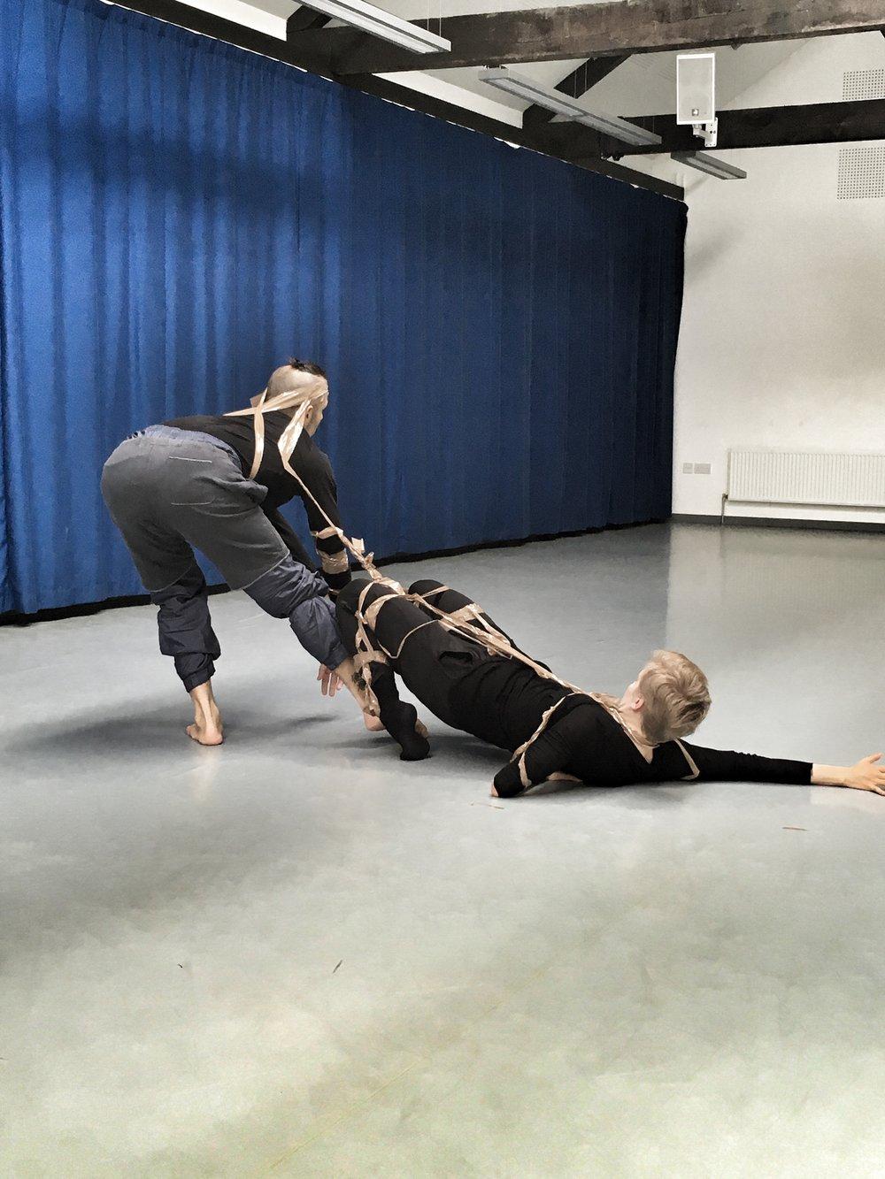 "Israel Aloni & Johanna Nuutinen in rehearsals of ""Babulus"" by iCoDaCo 2016"