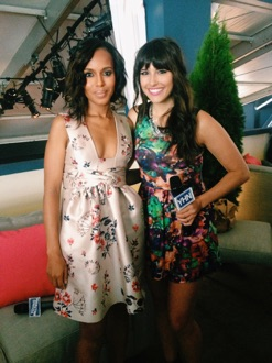 Carly Henderson and Kerry Washington