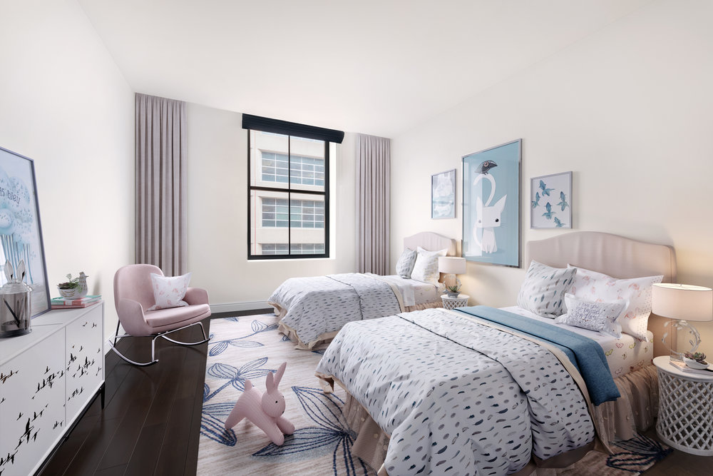 Bedroom virtual staging by Spotless Agency