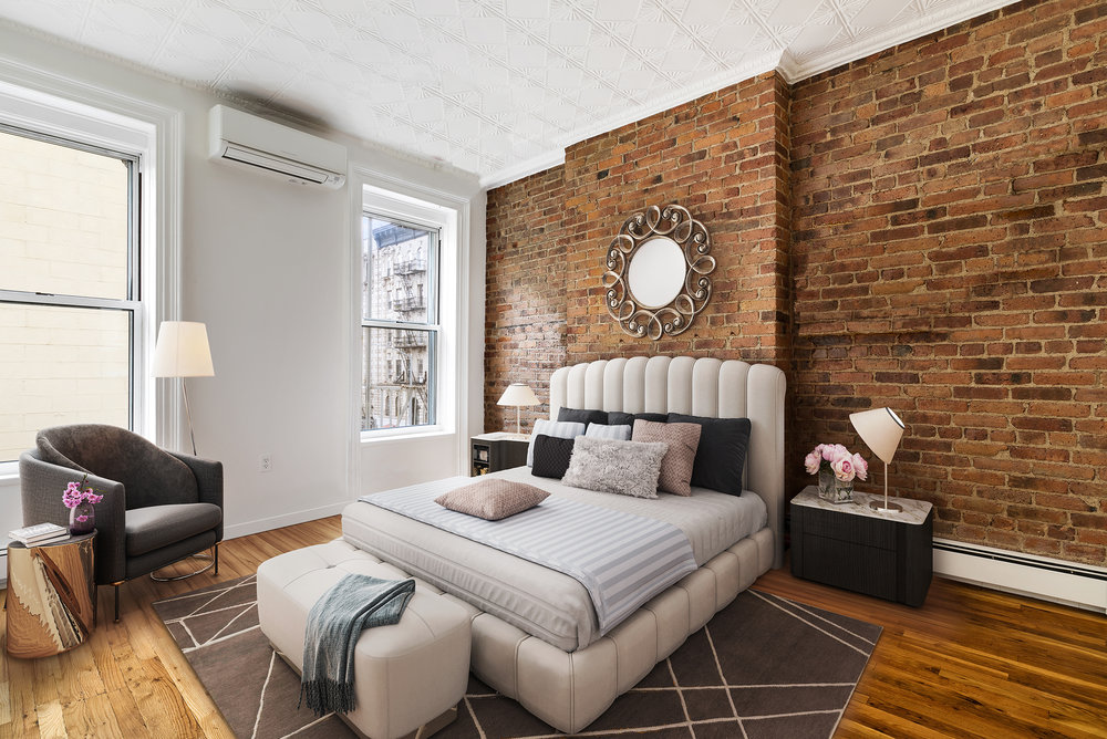 Bedroom Virtually Staged by Spotless Agency
