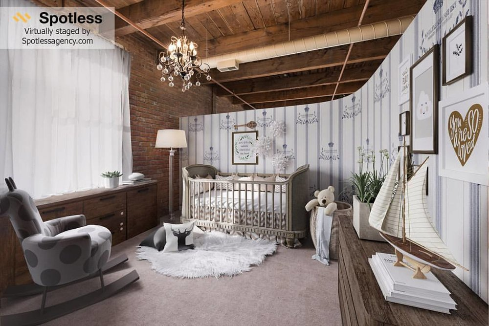 Kids' Bedroom Virtually Staged by Spotless Agency