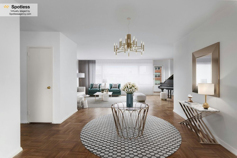Example of virtually staged room by Spotless Agency
