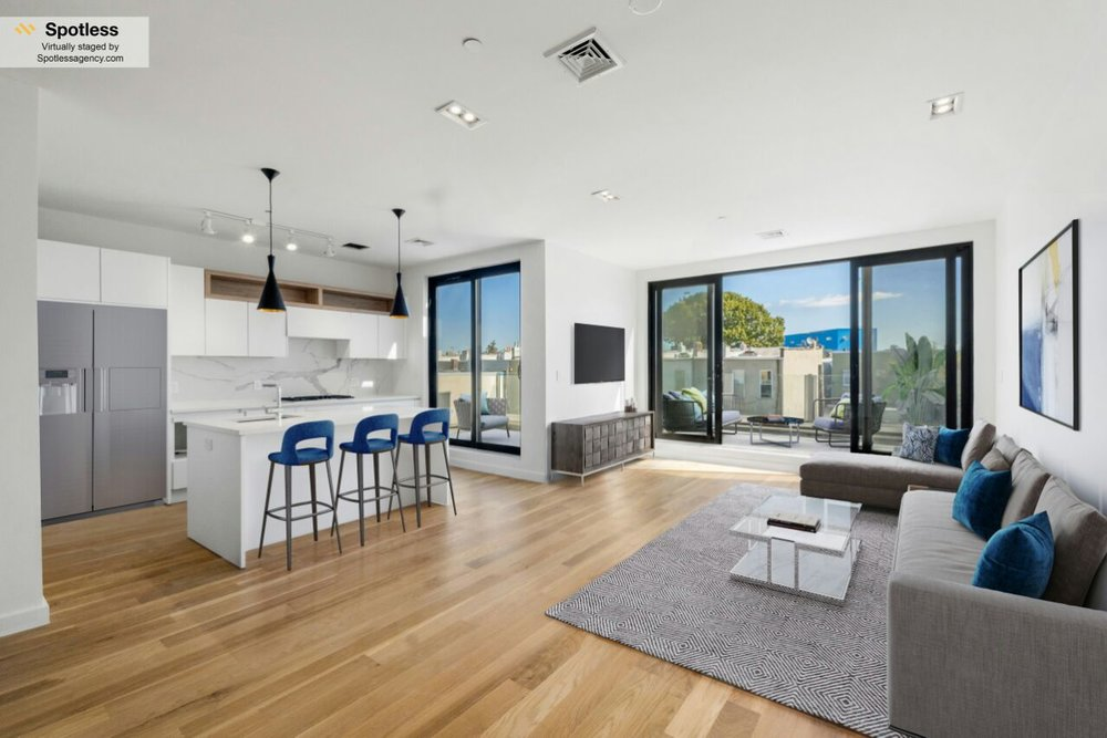 Example of virtually staged apartments by Spotless Agency