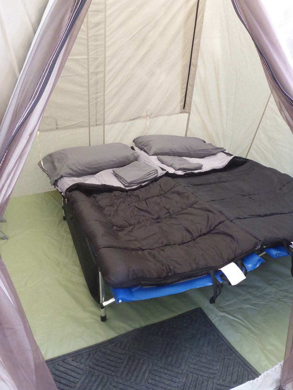zion-camping-cots-sleeping bags-pillows-sheets.jpg