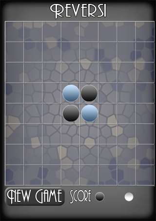 Game board design for Reversi for Palm Pre variation 2. Created in Adobe Illustrator