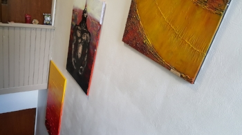 Paintings in entrance