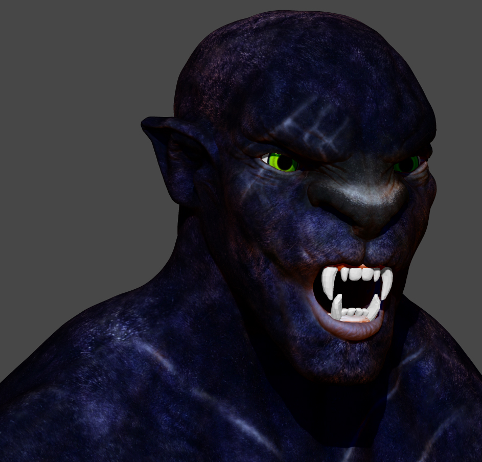 wanted to do a version of Panthro in zbrush