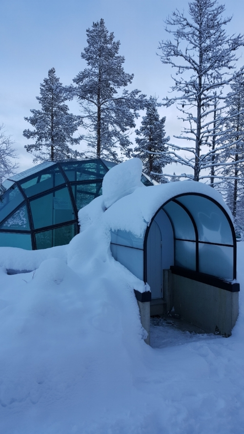 The Glass Igloo we stayed in for one night.