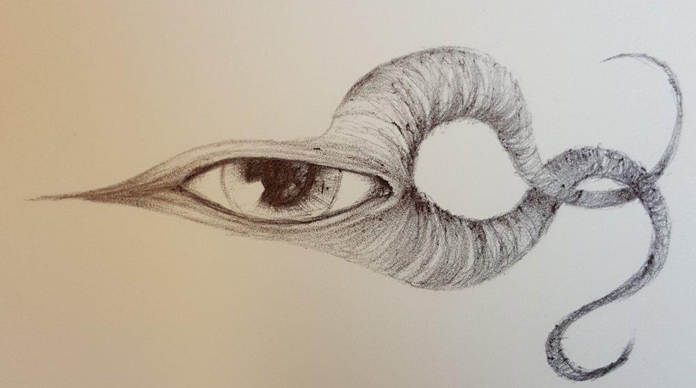 a pen sketch