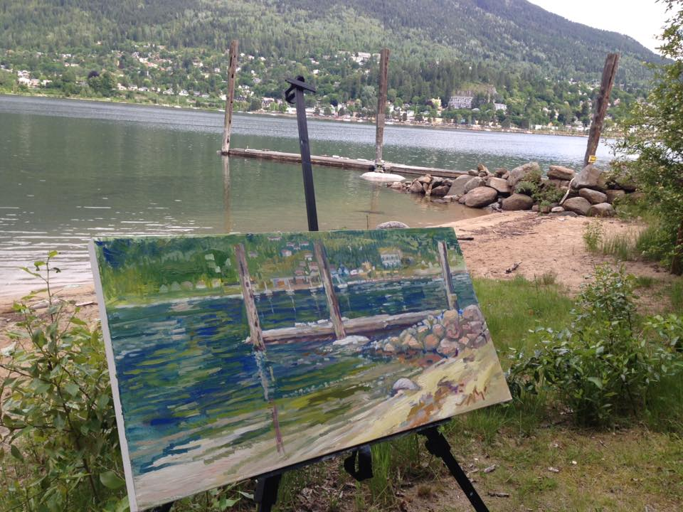 Painting En Plein Air in Nelson BC